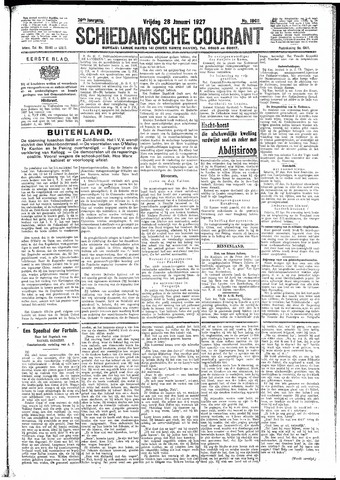 Schiedamsche Courant 1927-01-28