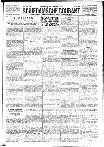Schiedamsche Courant 1927-02-17