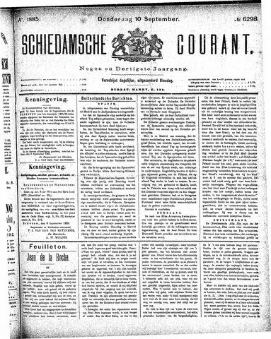 Schiedamsche Courant 1885-09-10