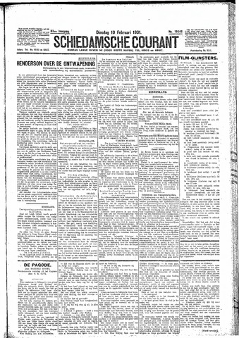 Schiedamsche Courant 1931-02-10