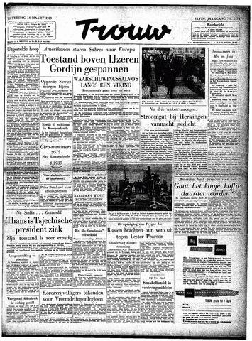 Trouw / De Rotterdammer 1953-03-14