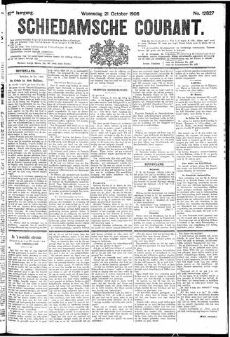 Schiedamsche Courant 1908-10-21