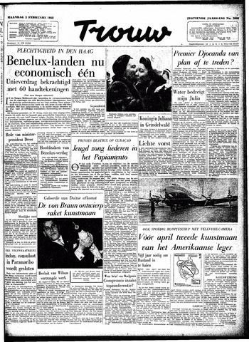 Trouw / De Rotterdammer 1958-02-03