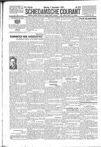 Schiedamsche Courant 1931-09-01
