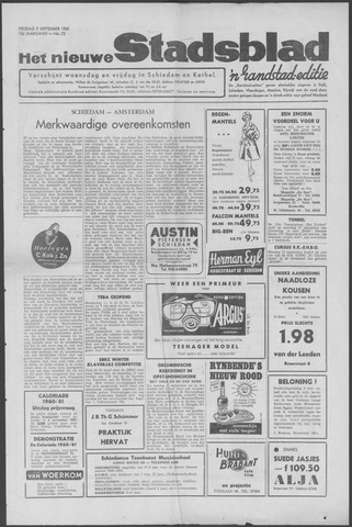 Het Nieuwe Stadsblad 1960-09-09