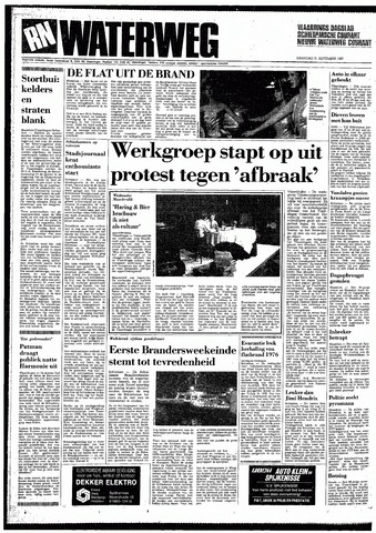 Rotterdamsch Nieuwsblad / Schiedamsche Courant / Rotterdams Dagblad / Waterweg / Algemeen Dagblad 1987-09-21