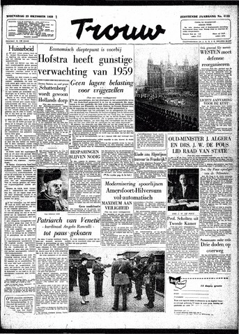Trouw / De Rotterdammer 1958-10-29