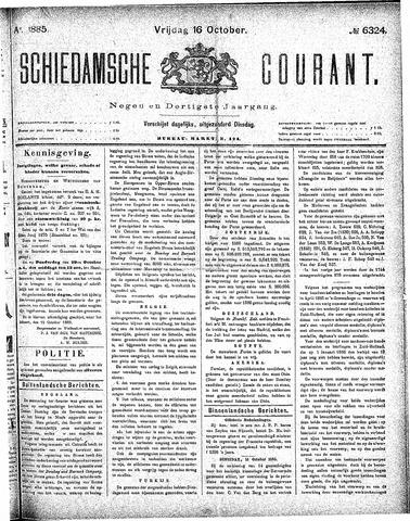 Schiedamsche Courant 1885-10-16