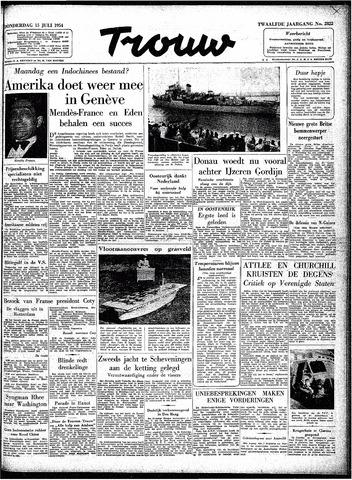 Trouw / De Rotterdammer 1954-07-15