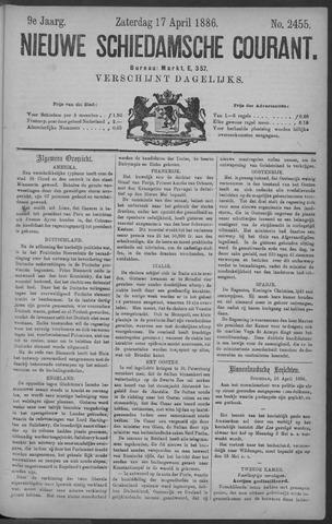 Nieuwe Schiedamsche Courant 1886-04-17