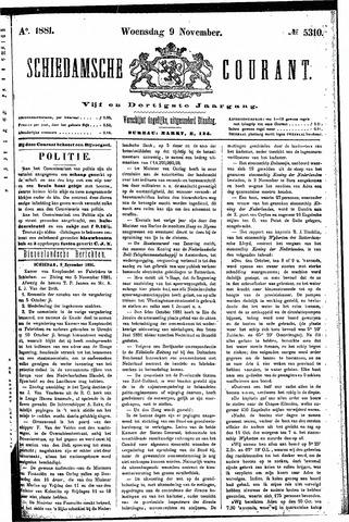 Schiedamsche Courant 1881-11-09