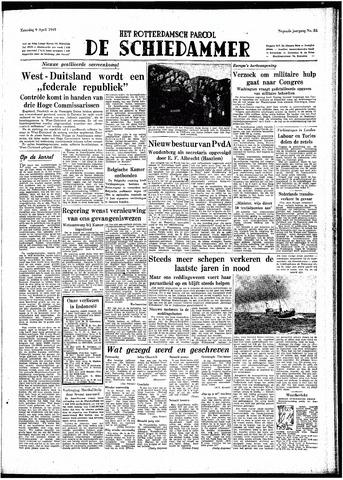 Rotterdamsch Parool / De Schiedammer 1949-04-09