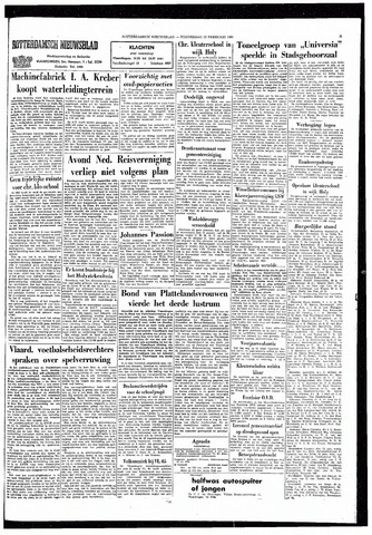 Rotterdamsch Nieuwsblad / Schiedamsche Courant / Rotterdams Dagblad / Waterweg / Algemeen Dagblad 1965-02-25