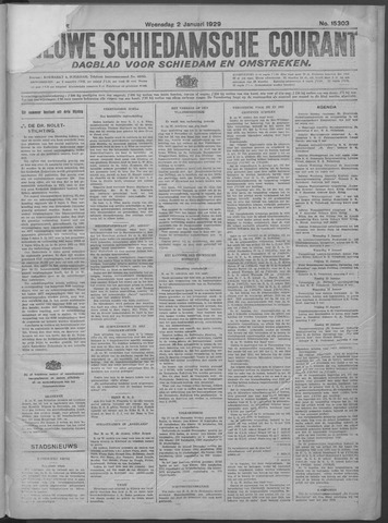 Nieuwe Schiedamsche Courant 1929-01-02