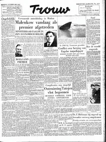 Trouw / De Rotterdammer 1955-02-08