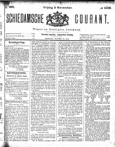 Schiedamsche Courant 1885-11-06