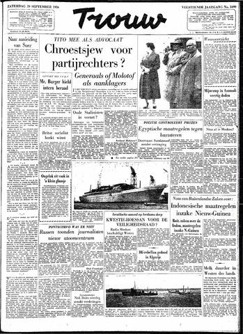 Trouw / De Rotterdammer 1956-09-29