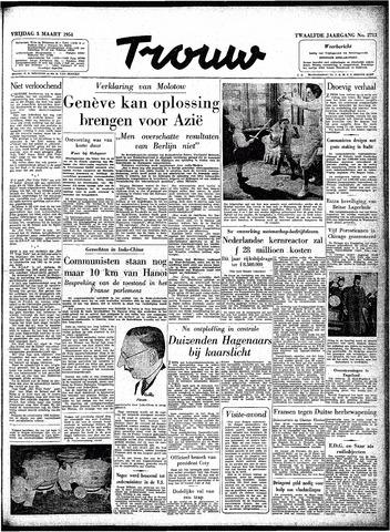 Trouw / De Rotterdammer 1954-03-05
