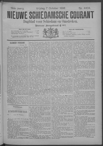 Nieuwe Schiedamsche Courant 1892-10-07