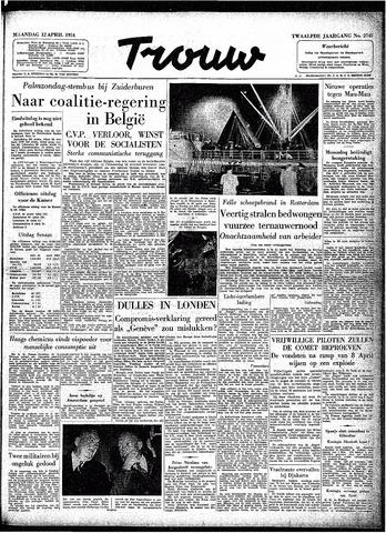 Trouw / De Rotterdammer 1954-04-12