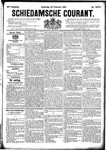Schiedamsche Courant 1916-02-26