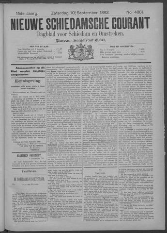 Nieuwe Schiedamsche Courant 1892-09-10