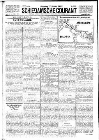 Schiedamsche Courant 1927-10-27