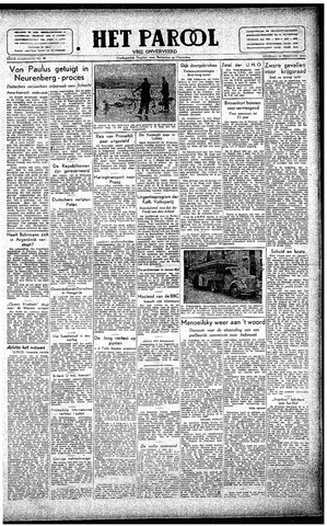 Rotterdamsch Parool / De Schiedammer 1946-02-12