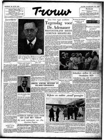 Trouw / De Rotterdammer 1953-06-26