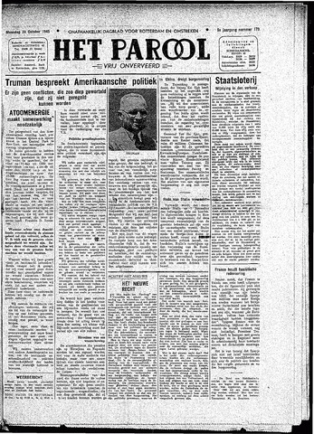 Rotterdamsch Parool / De Schiedammer 1945-10-29