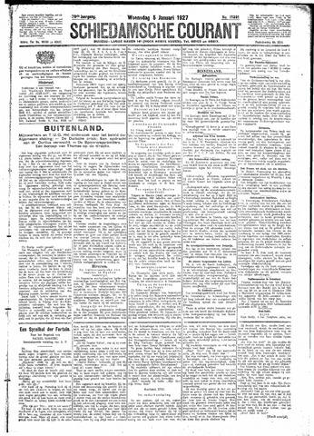 Schiedamsche Courant 1927-01-05