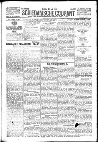 Schiedamsche Courant 1931-07-31