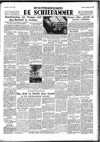 Rotterdamsch Parool / De Schiedammer 1948-04-05