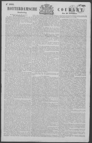 Rotterdamse Courant 1851-11-20