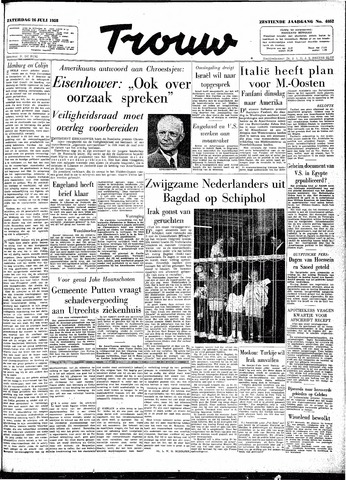 Trouw / De Rotterdammer 1958-07-26