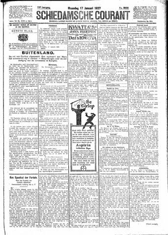 Schiedamsche Courant 1927-01-17