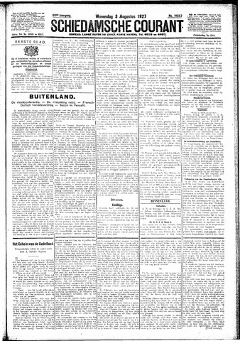 Schiedamsche Courant 1927-08-03