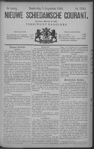 Nieuwe Schiedamsche Courant 1886-08-05