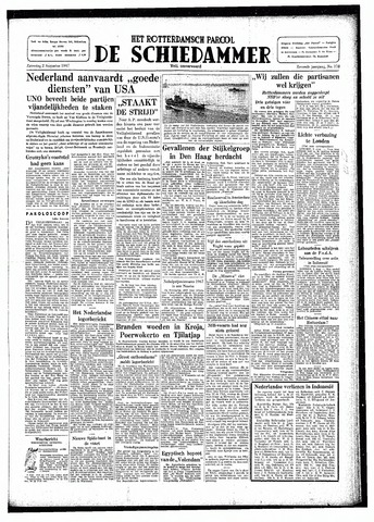 Rotterdamsch Parool / De Schiedammer 1947-08-02