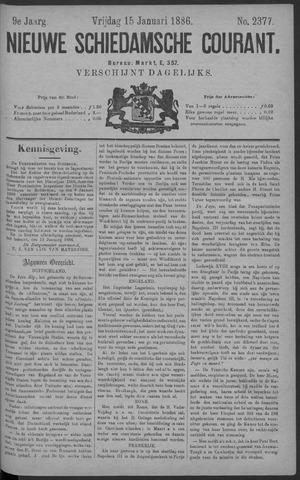 Nieuwe Schiedamsche Courant 1886-01-15