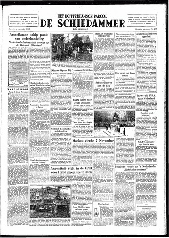 Rotterdamsch Parool / De Schiedammer 1947-11-08