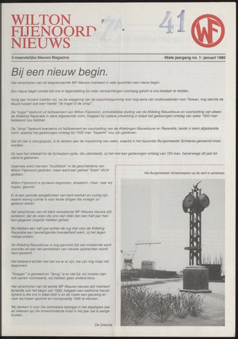 Wilton Fijenoord Nieuws 1985