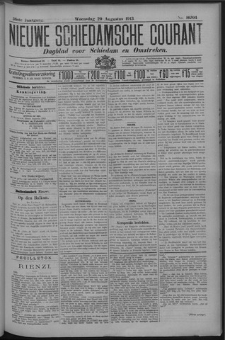 Nieuwe Schiedamsche Courant 1913-08-20