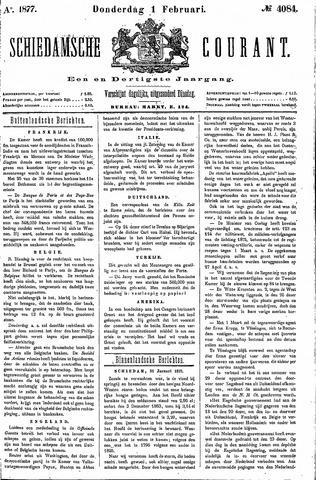 Schiedamsche Courant 1877-02-01