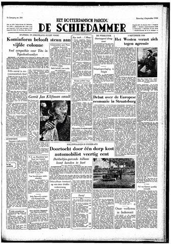 Rotterdamsch Parool / De Schiedammer 1949-09-03
