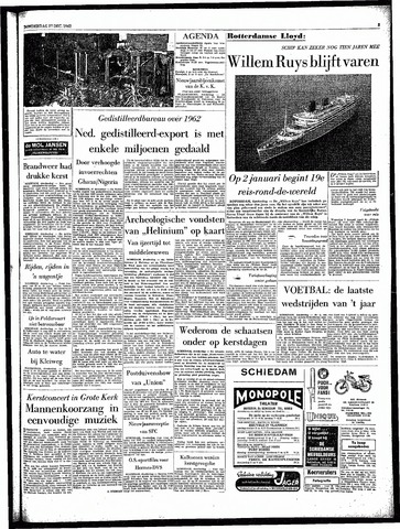 Rotterdamsch Parool / De Schiedammer 1962-12-27