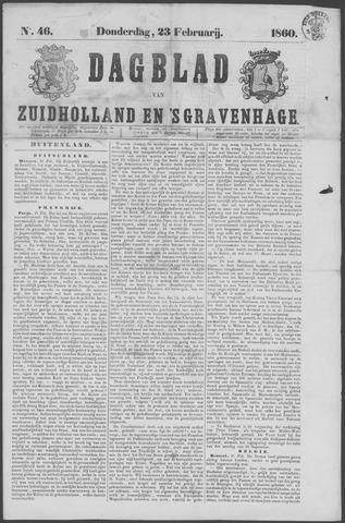 Dagblad van Zuid-Holland 1860-02-23