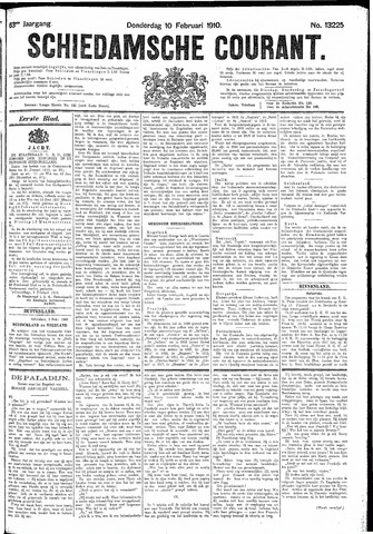 Schiedamsche Courant 1910-02-10
