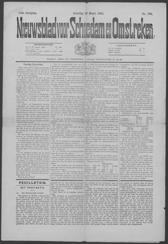 Nieuwsblad voor Schiedam en Omstreken 1892-03-26