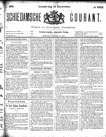 Schiedamsche Courant 1885-12-10